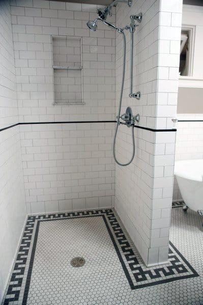 Simple Doorless Walk In Shower Ideas