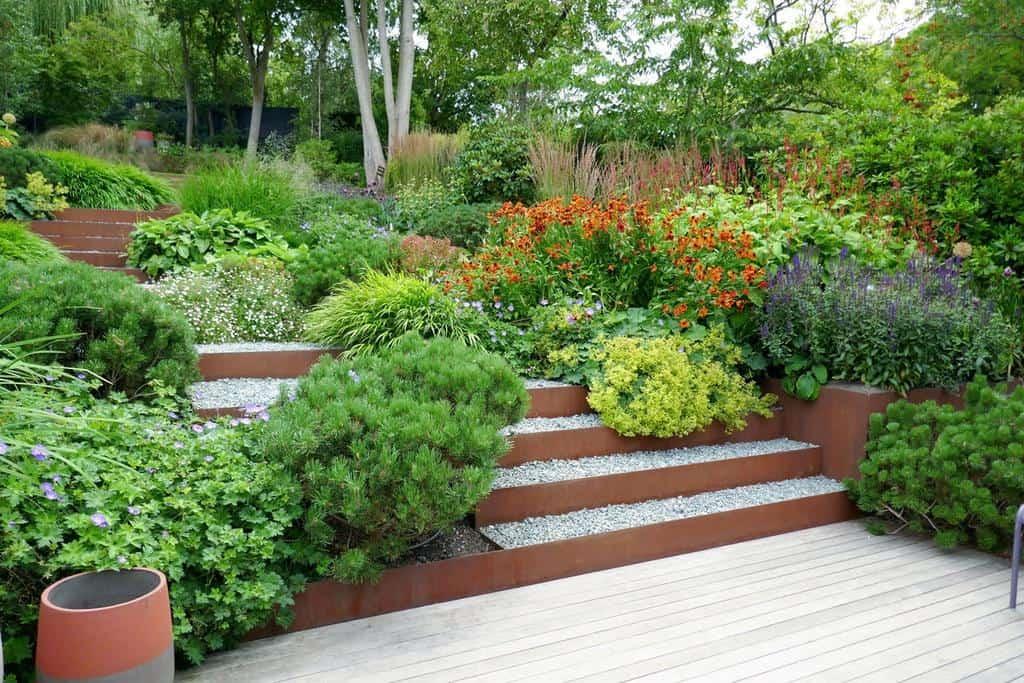 Slope Garden Hardscaping Ideas -londongardendesign