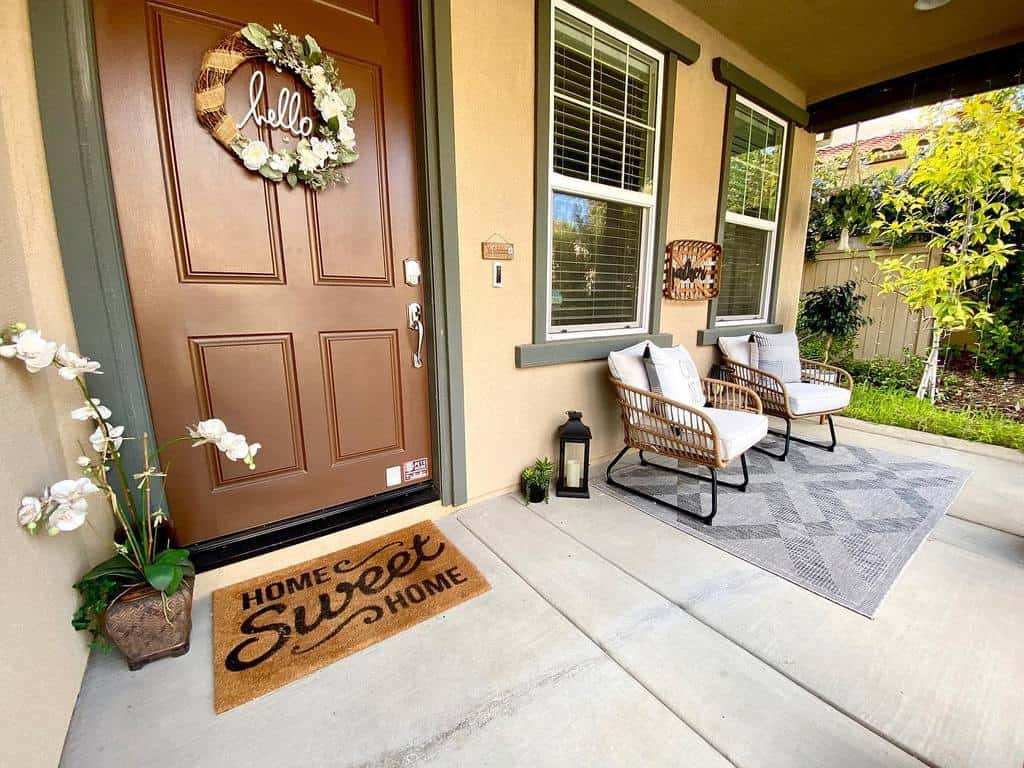 Small Front Porch Decorating Ideas -designedwithgraceandjoy