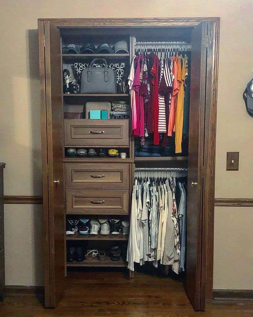 Small Space Clothes Storage Ideas -__erin_kathleen