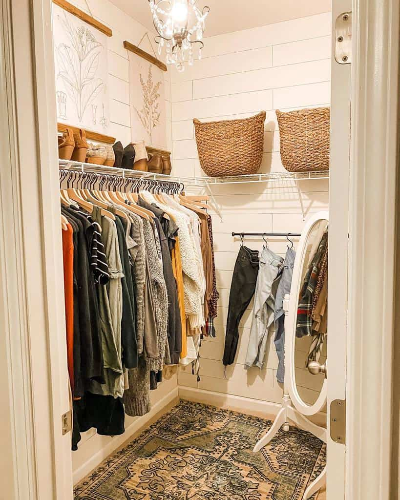 Small Space Clothes Storage Ideas -olivebranchcottage