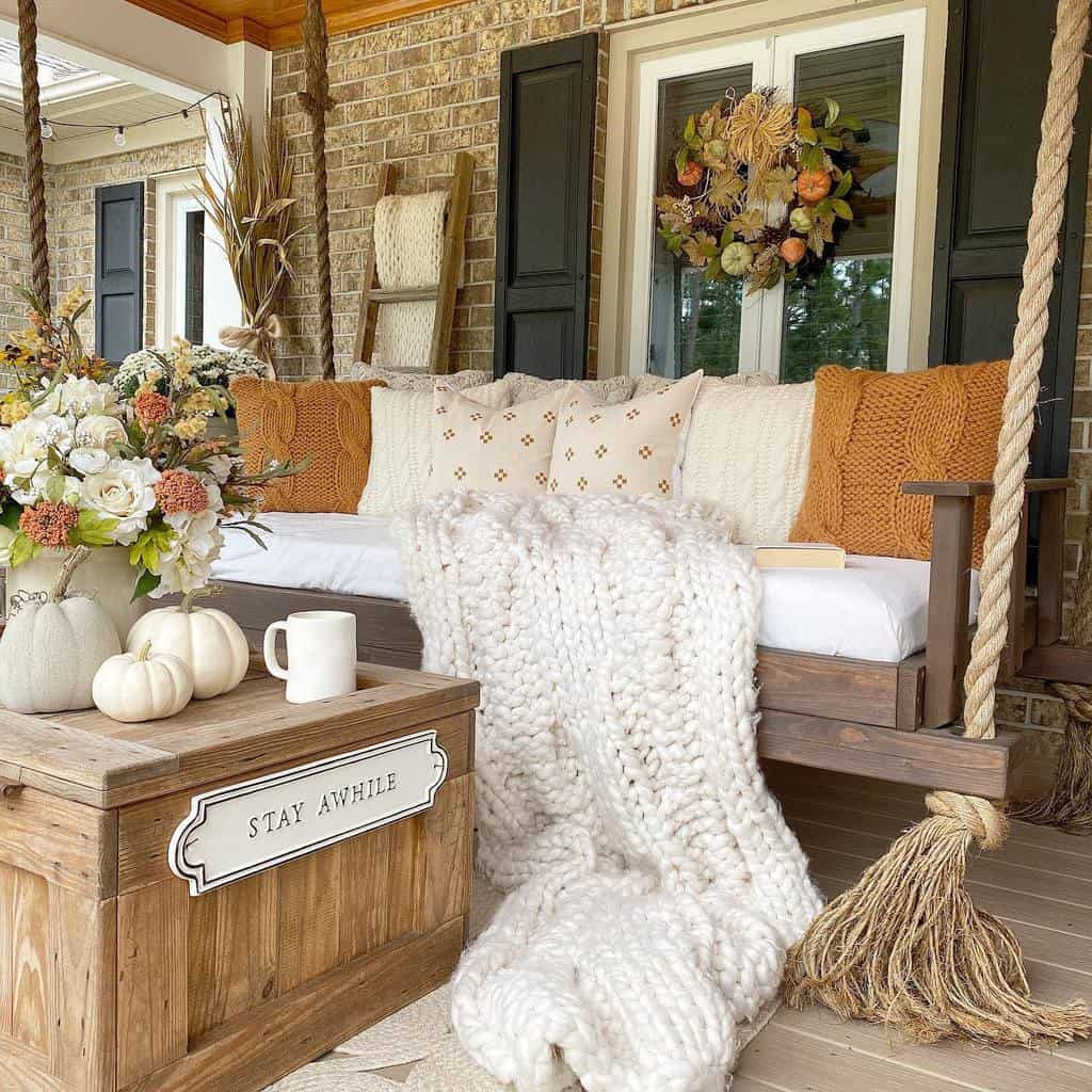 Swing Front Porch Decorating Ideas -caligirlinasouthernworld