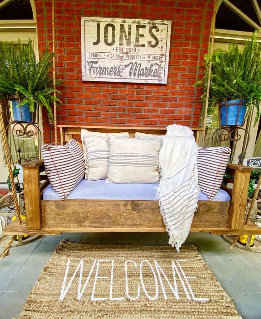 Swing Front Porch Decorating Ideas -tnbedswings