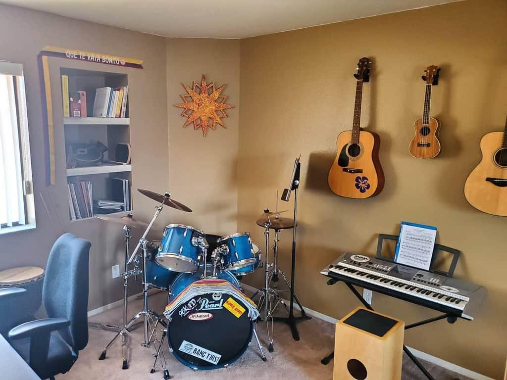 Wall Color Music Room Ideas -ryanfowlermusic