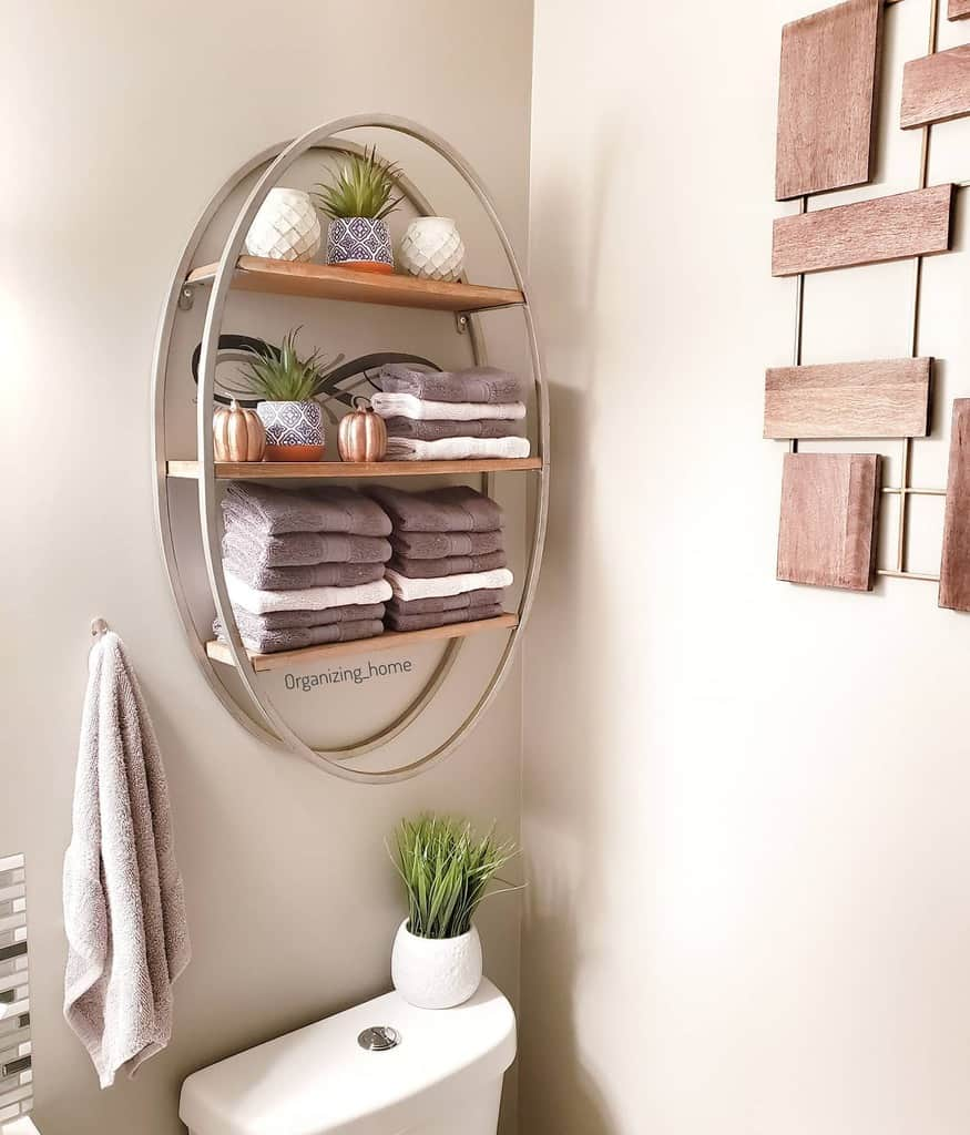 Wall Hang Over The Toilet Storage Ideas -organizing_home