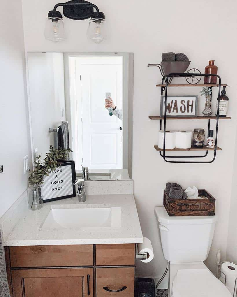 Wall Hang Over The Toilet Storage Ideas -rural_haven
