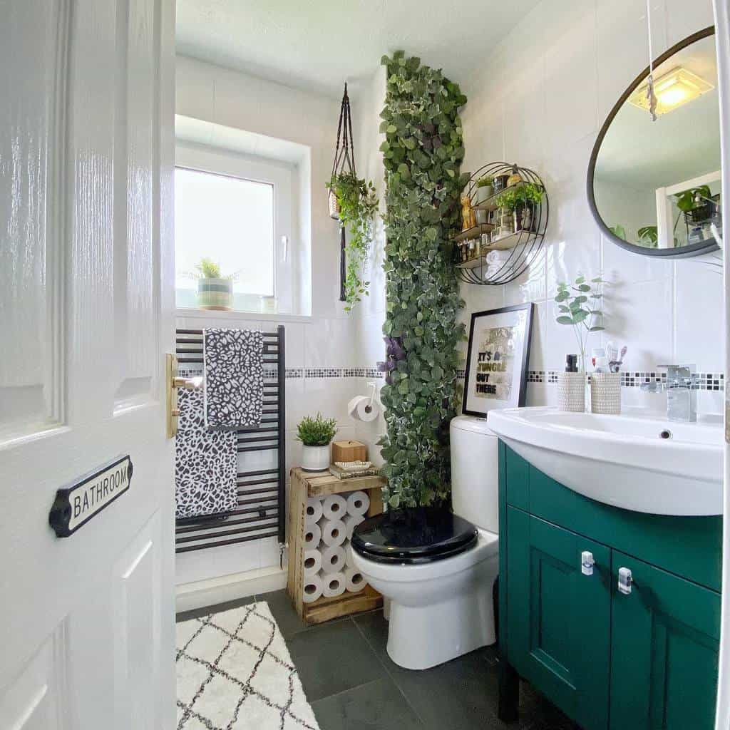 Wall Hang Over The Toilet Storage Ideas -the_handymama