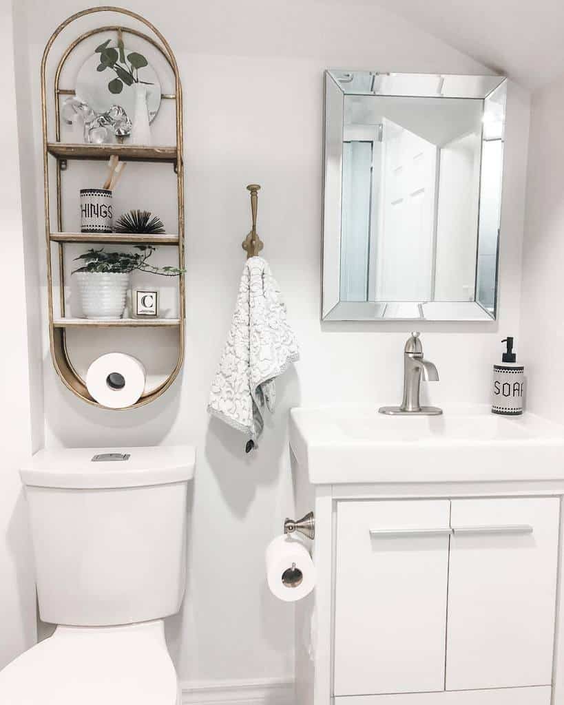 Wall Hang Over The Toilet Storage Ideas -violets_and_lilacs