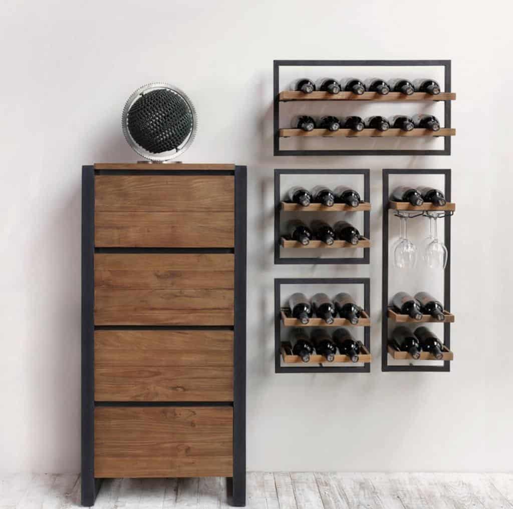 Wall Mount Wine Rack Ideas -designrepublicto