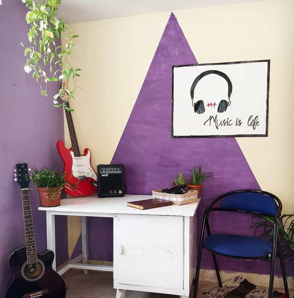 Wallart Music Room Ideas -homedecor_diaries