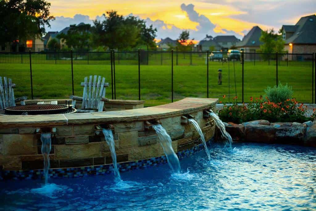 Water Fall Small Pool Ideas -haukcustompools