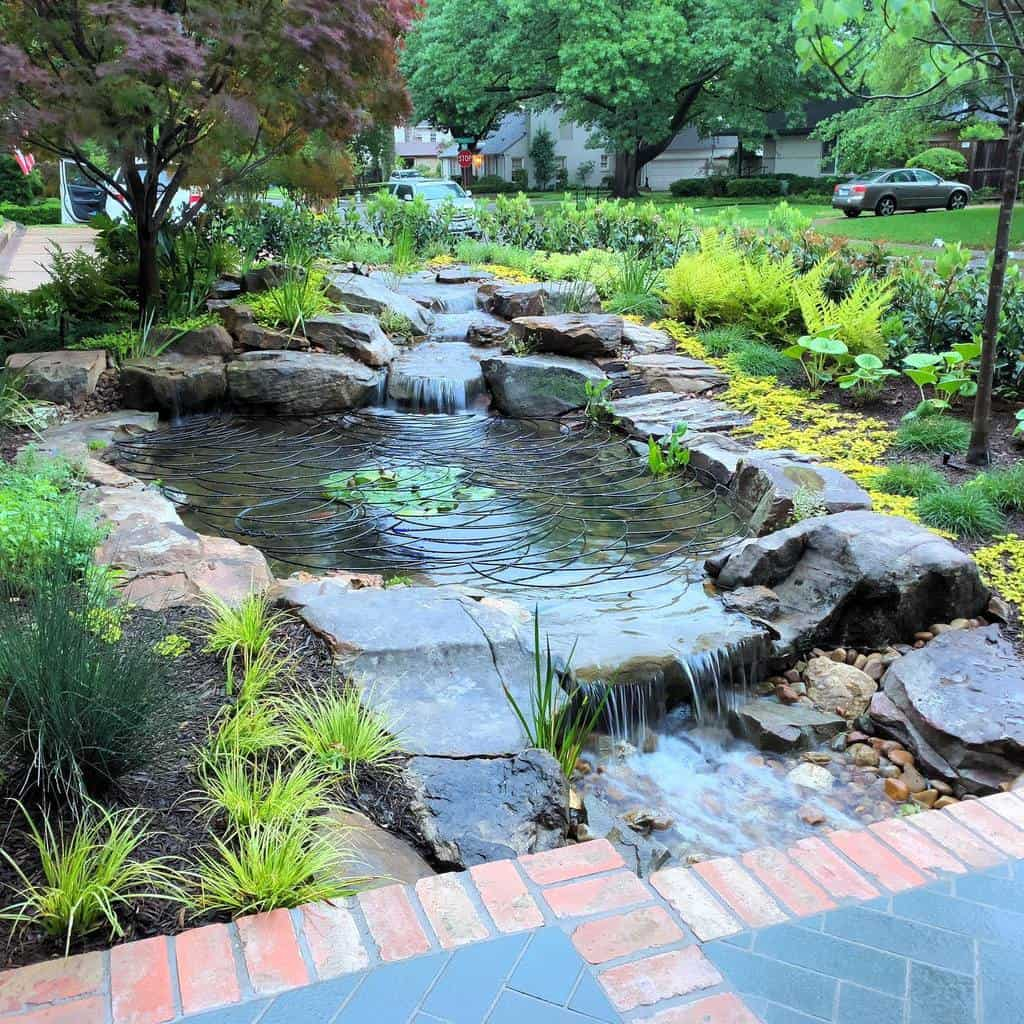 Water Feature Hardscaping Ideas -melissagerstledesign