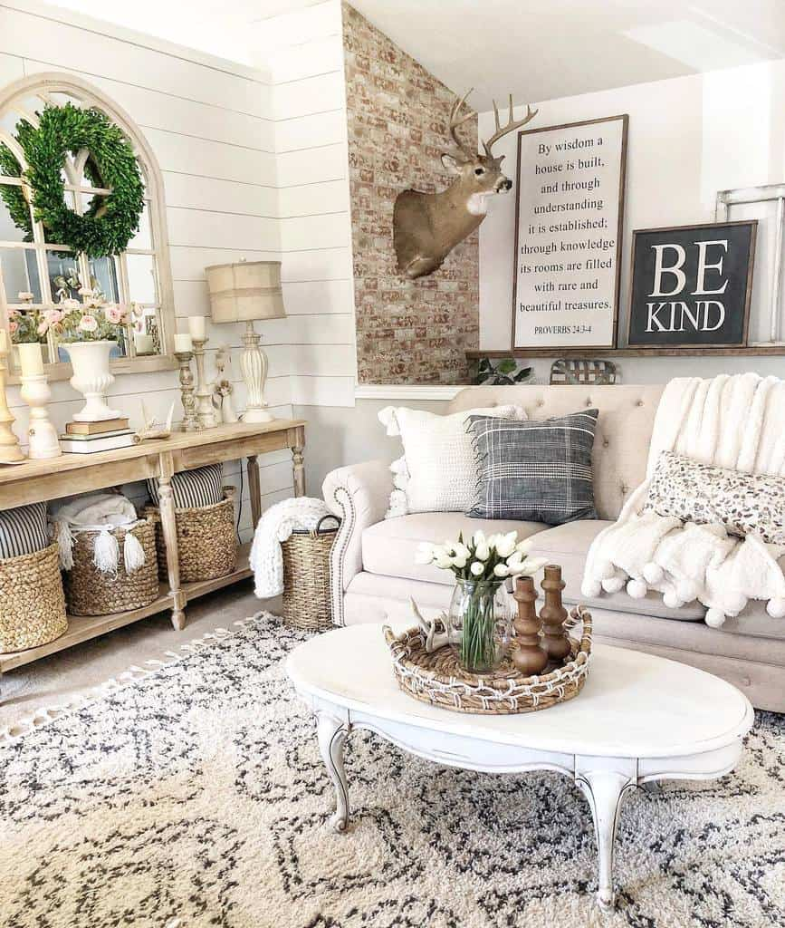 White Coffee Table Ideas -rustic.sparkle