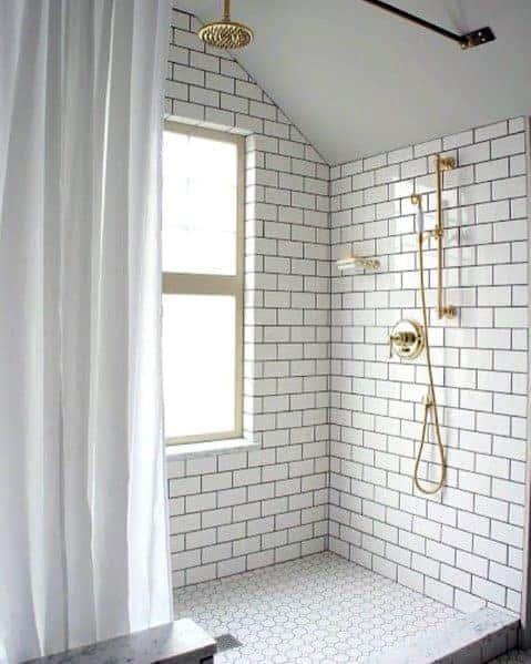 White Doorless Walk In Shower Ideas 1