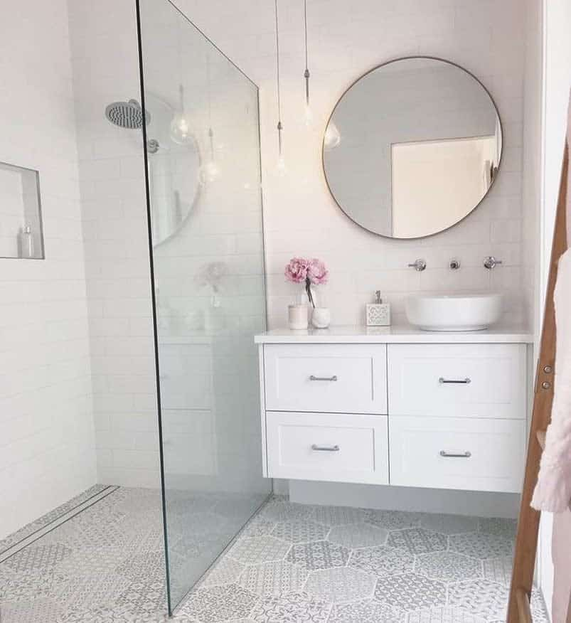 White Doorless Walk In Shower Ideas -made_by_color