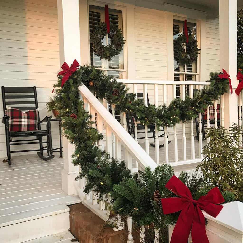 White Front Porch Decorating Ideas -steele.eclectic.farmhouse
