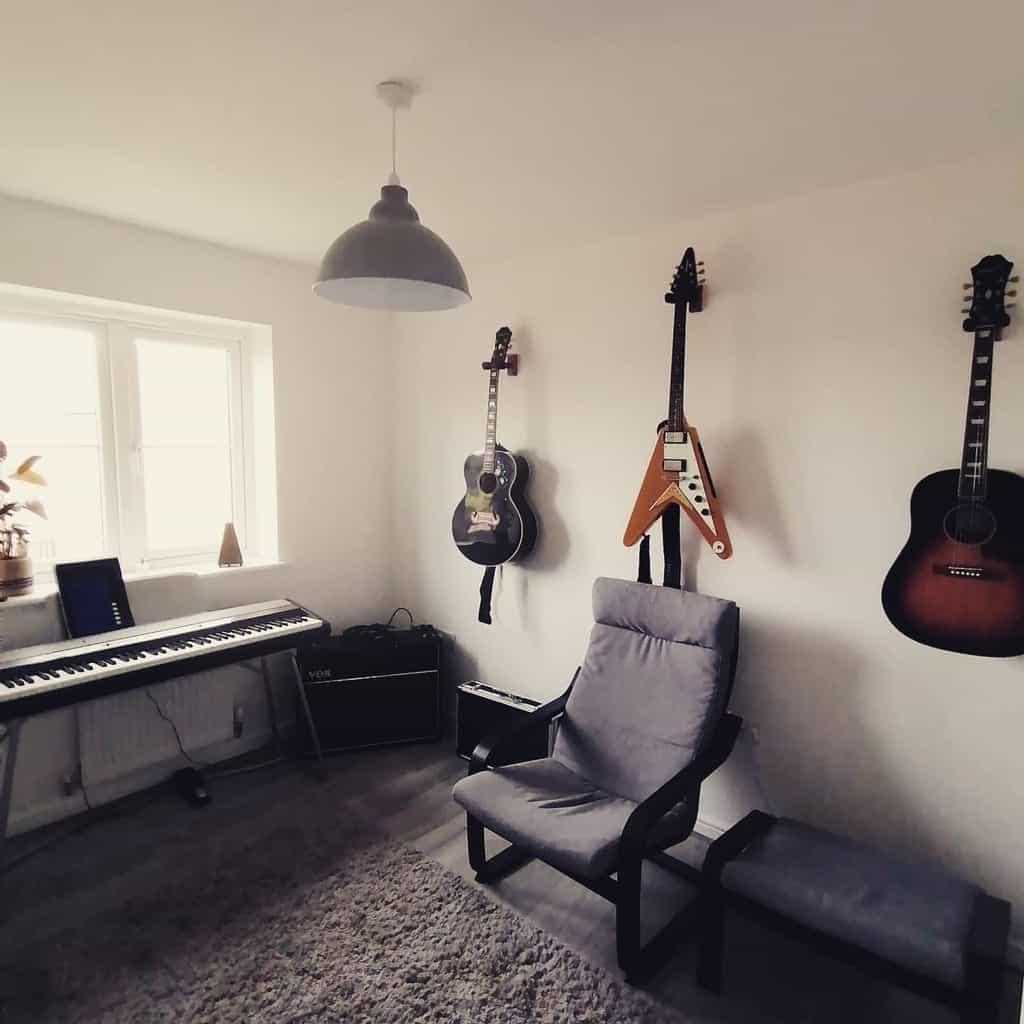 White Music Room Ideas -alistairjamesmusic