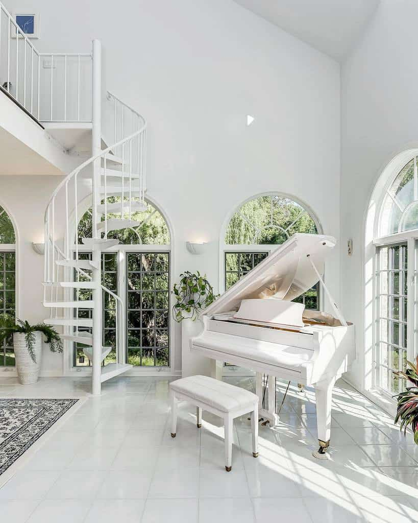 White Music Room Ideas -northroprealty