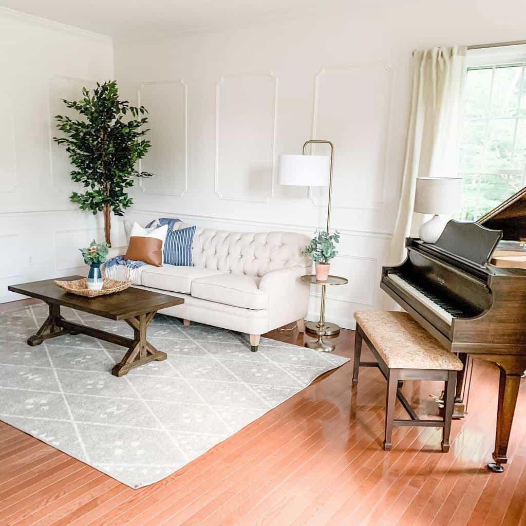 White Music Room Ideas -pickleandboard