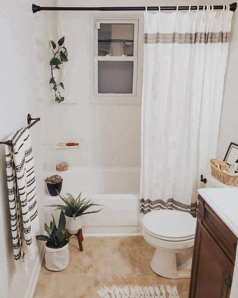 White Shower Curtain Ideas -amy.cathleen