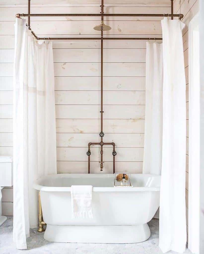 White Shower Curtain Ideas -onlygoodbain_bathingculture