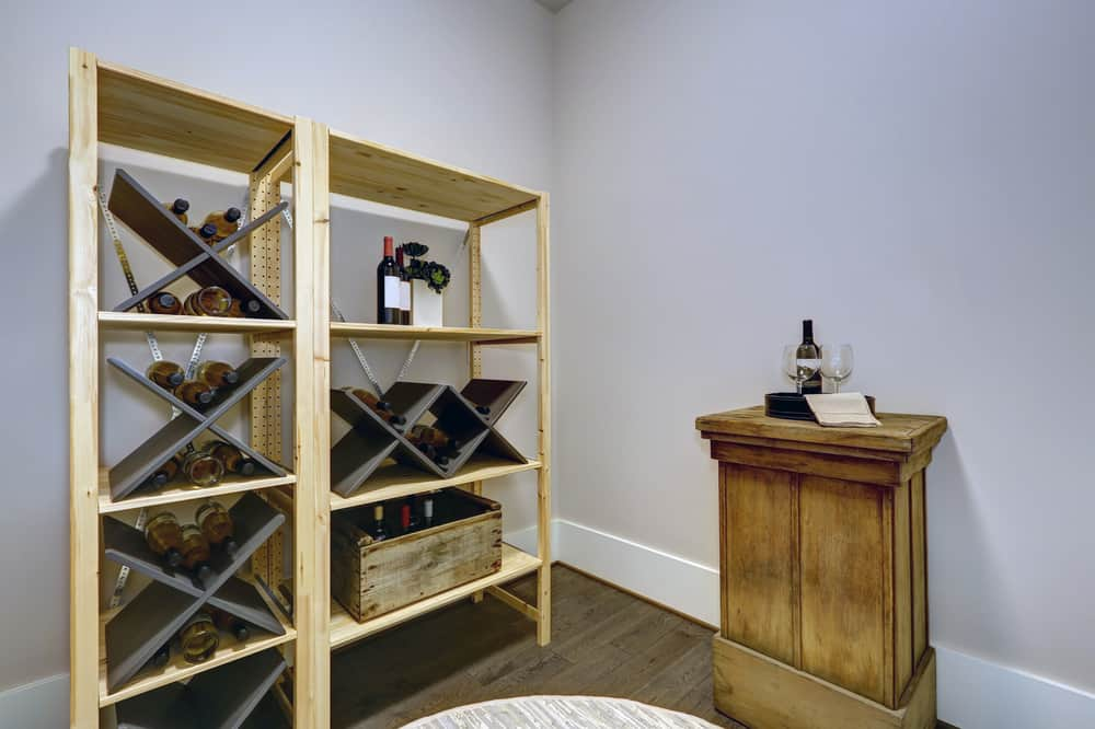 Wine,Room,With,Wooden,Wine,Racks,And,Small,Wine,Tasting