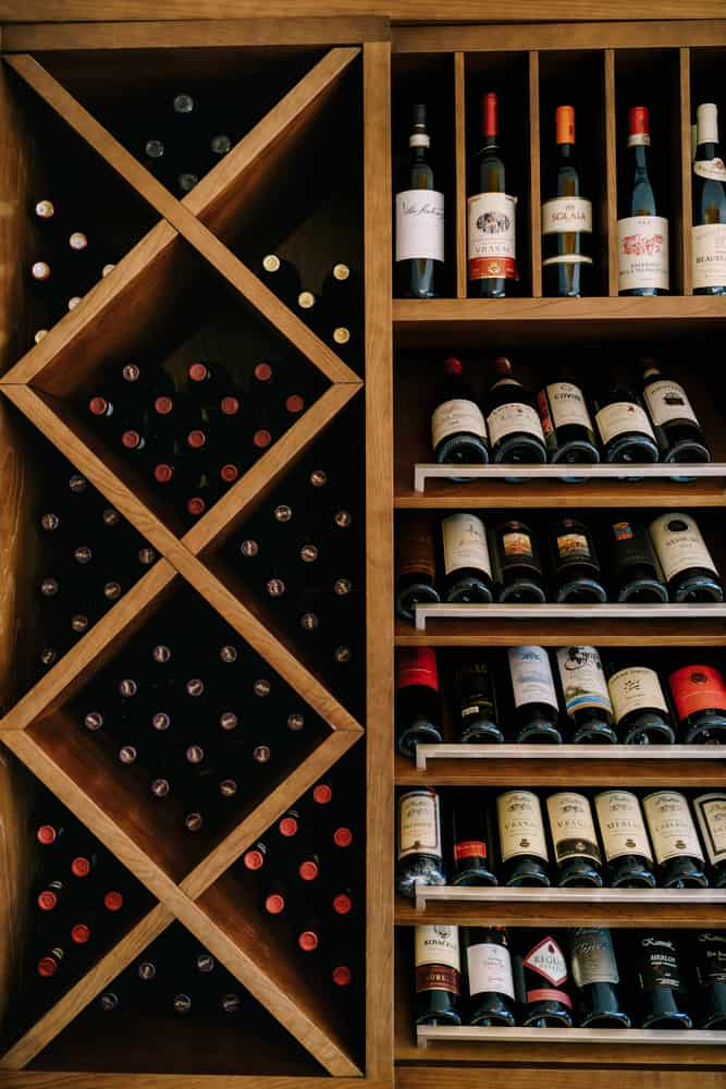 Budva,,Montenegro,-,05,June,2020:,A,Wooden,Wine,Cabinet