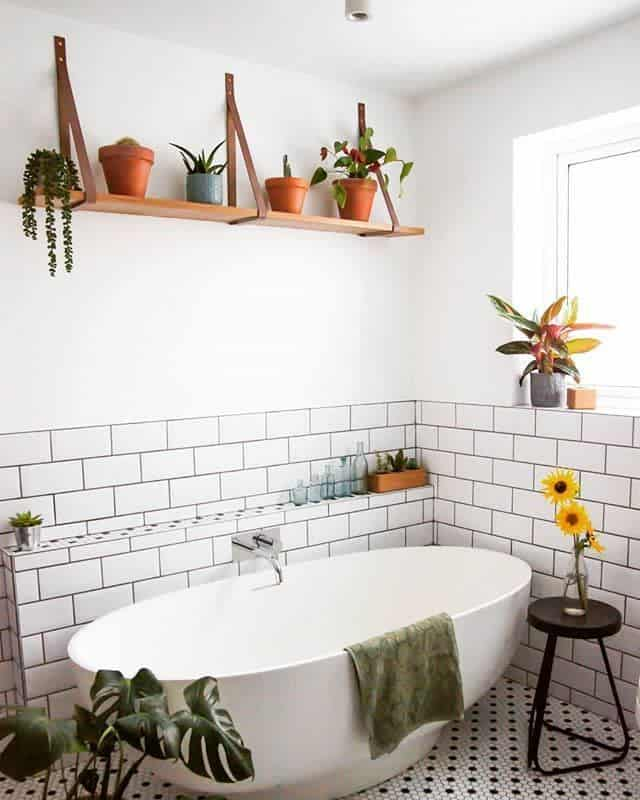 Bathroom Floating Shelves Ideas -lime_lace