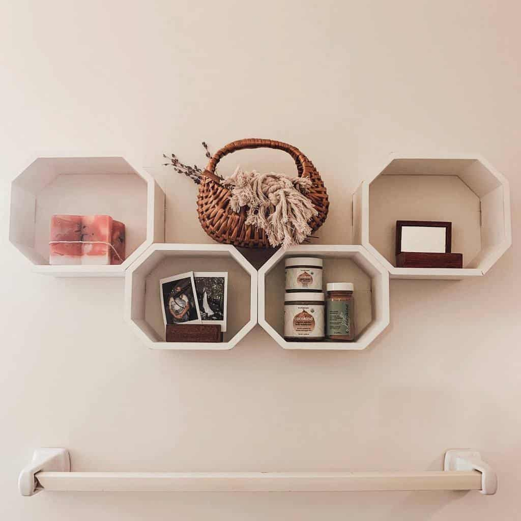 Bathroom Floating Shelves Ideas -wovenandwicker