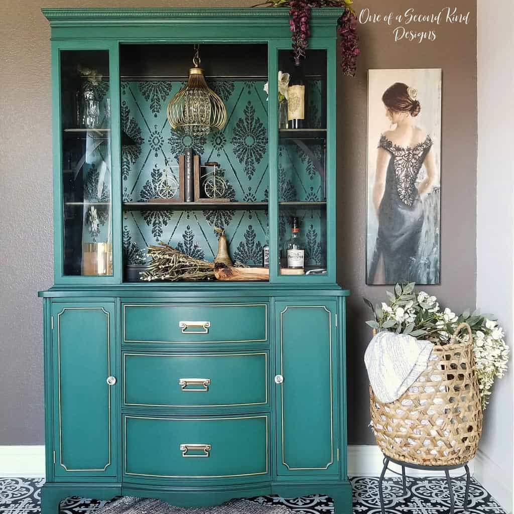 Bright Color Chalk Paint Furniture Ideas -oneofasecondkinddesigns