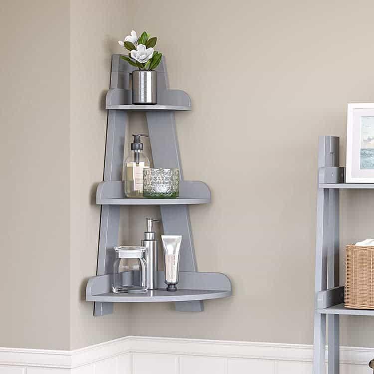 Corner Floating Shelves Ideas -riverridgehome