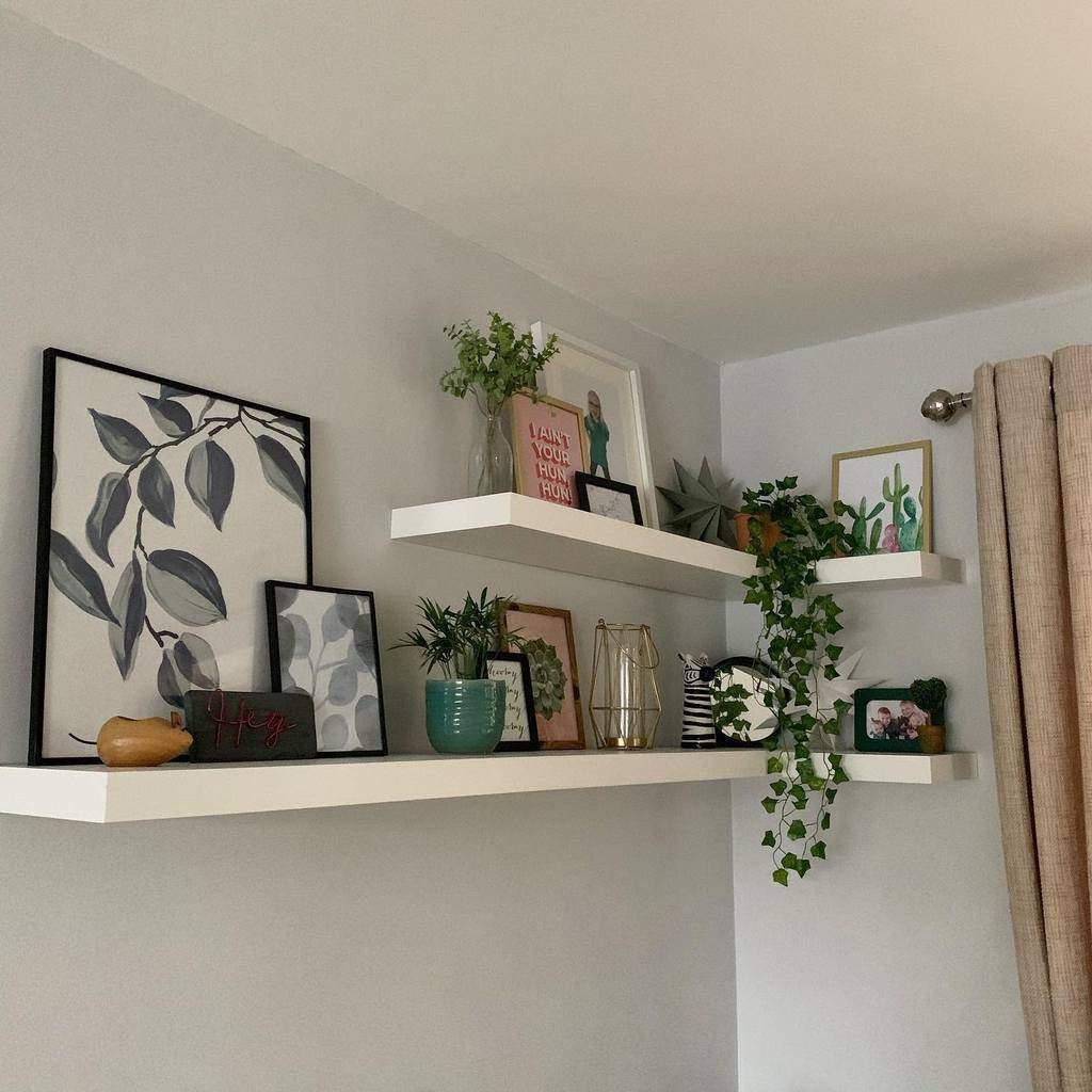 Corner Floating Shelves Ideas -second.hand.home