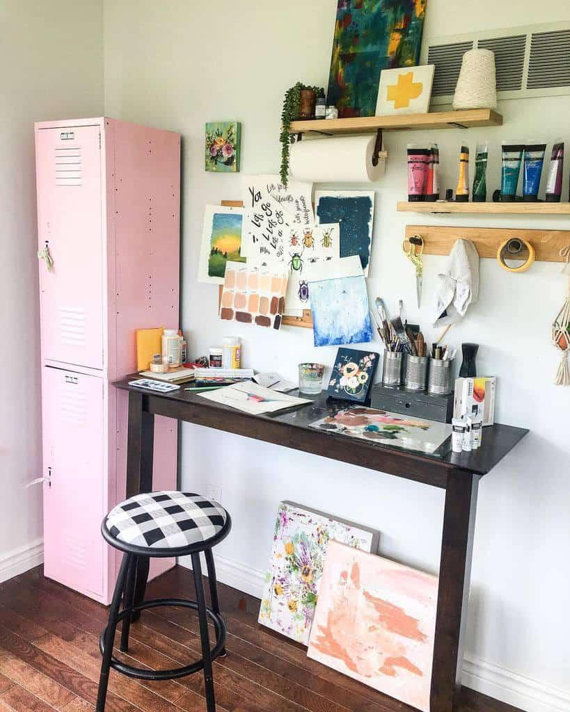 DIY Art Studio Ideas -katielockhart.art