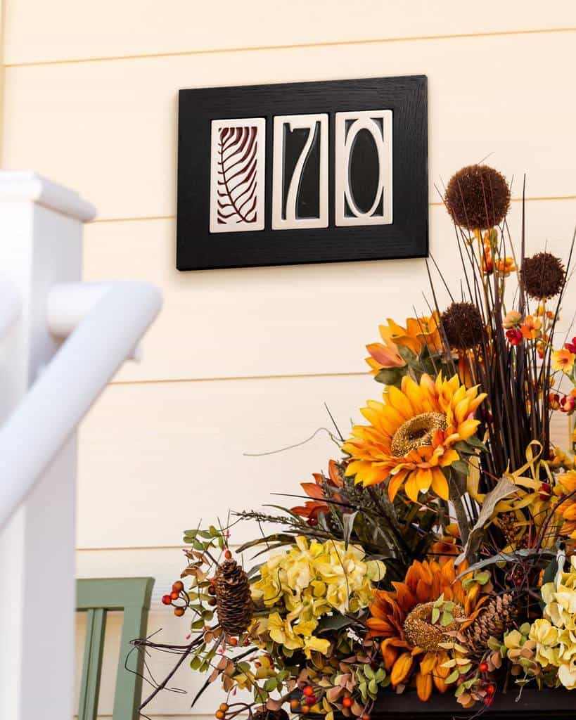 DIY House Number Ideas -rookwoodpottery
