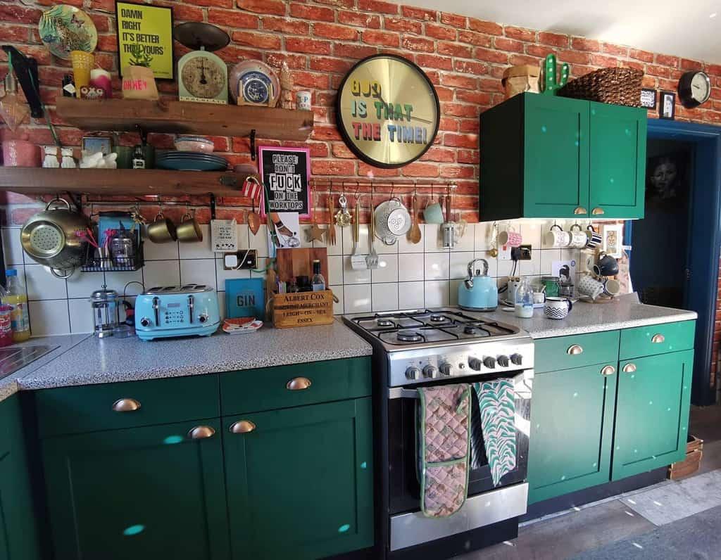 DIY Kitchen Shelf Ideas -eclecticfoxhome