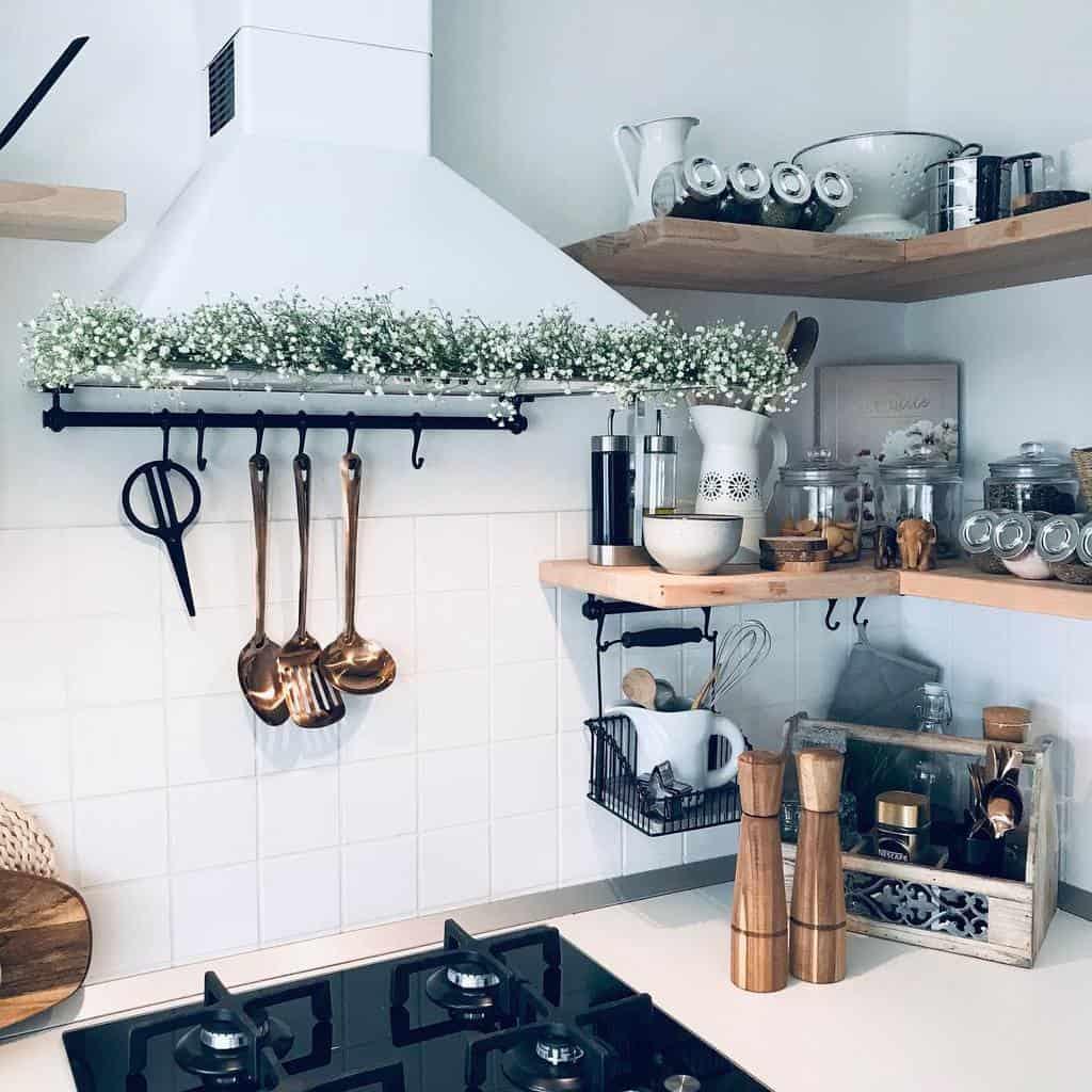 DIY Kitchen Shelf Ideas -myprettymess