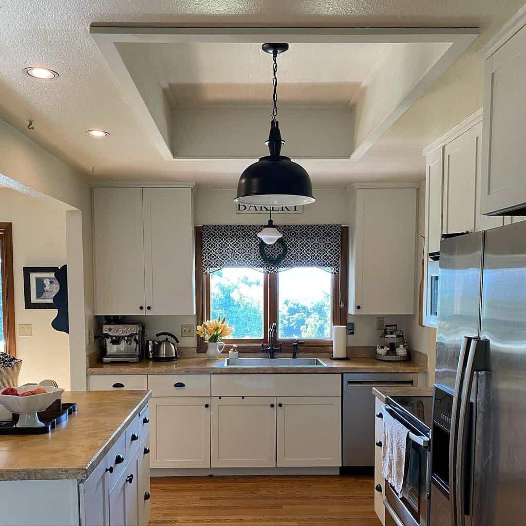 DIY Kitchen Shelf Ideas -theprairiesistersvintagemarket