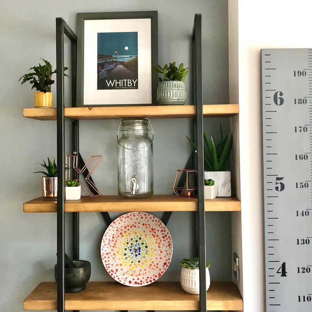 Decor Floating Shelves Ideas -rainbows_on_the_hill
