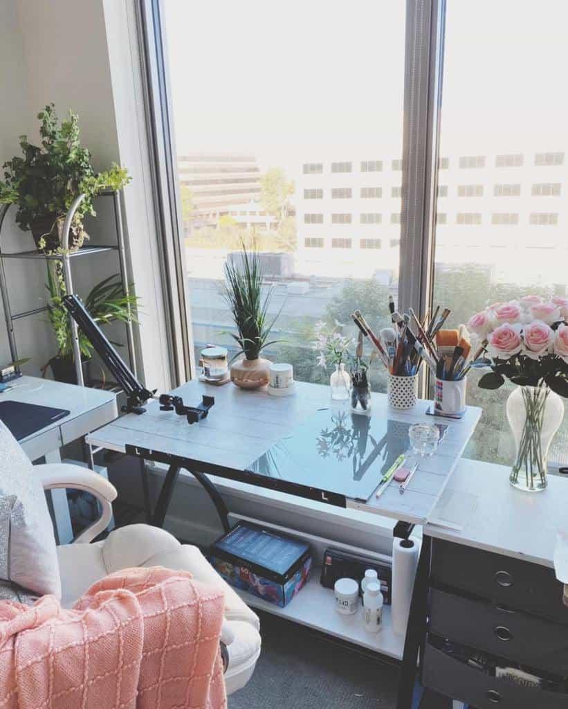 Desk Art Studio Ideas -alifya_lifestyle