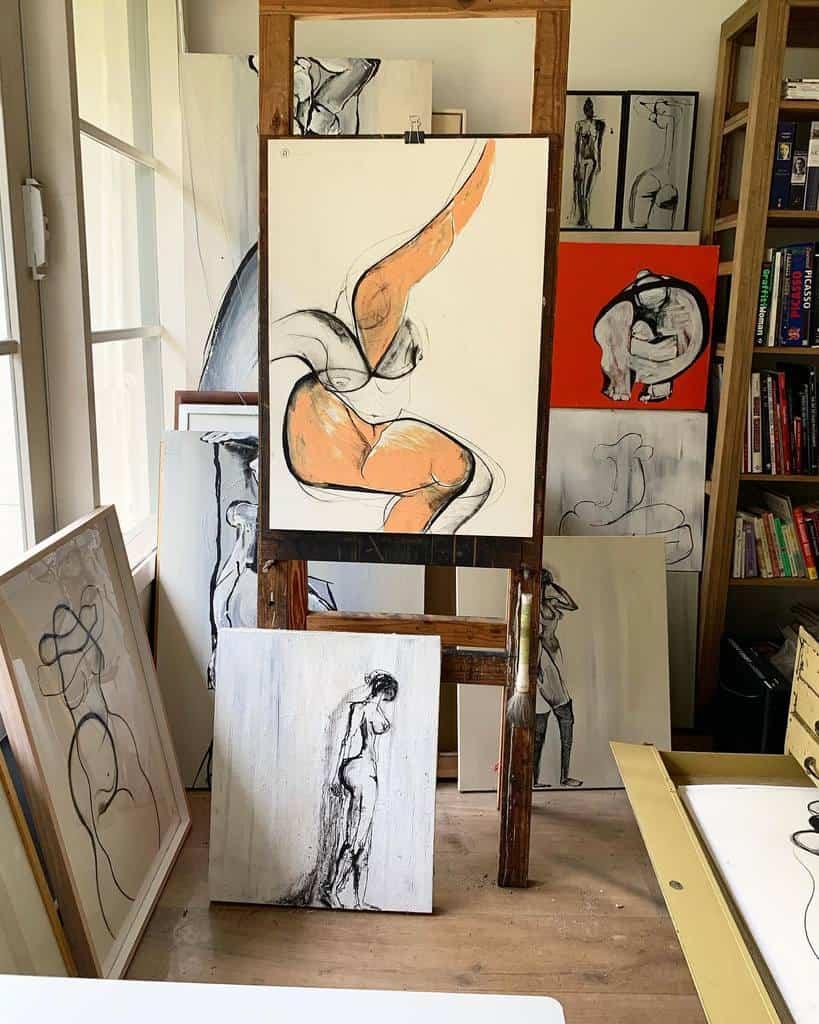 Desk Art Studio Ideas -carmeljenkin