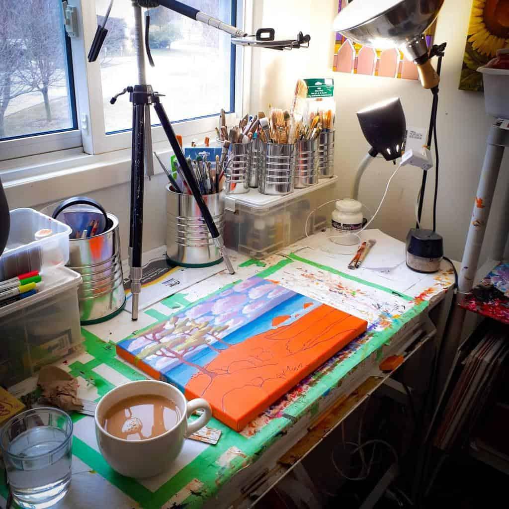 Desk Art Studio Ideas -cathyhorvathbuchanan