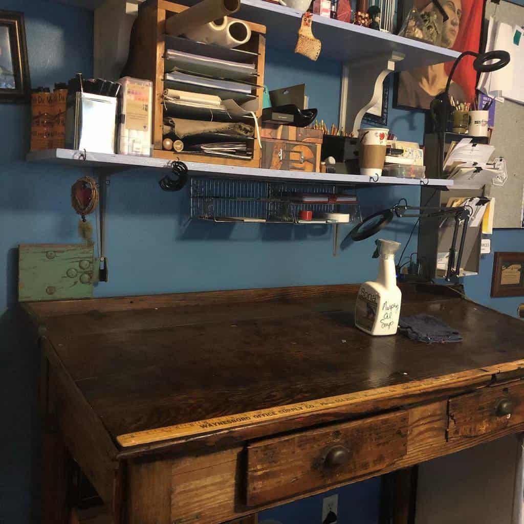 Desk Art Studio Ideas -frances_byrd_art