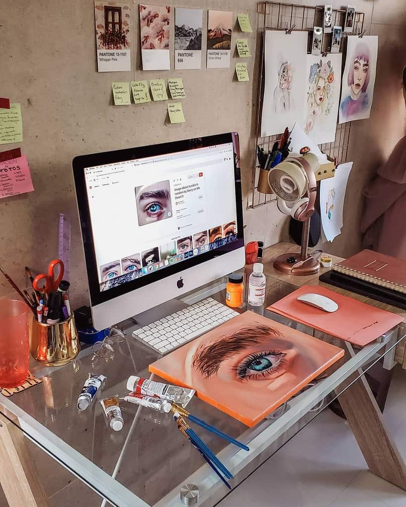 Desk Art Studio Ideas -hellomelikeyy