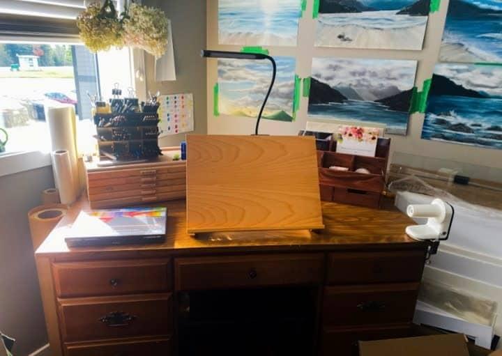 Desk Art Studio Ideas -northcoastbcartist