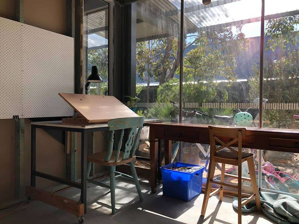 Desk Art Studio Ideas -piawhiteillustration