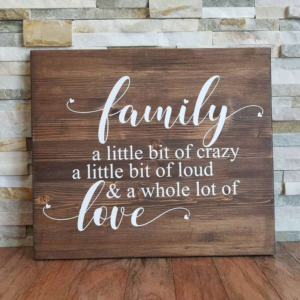 Family Wood Sign Ideas -fivemooredesigns