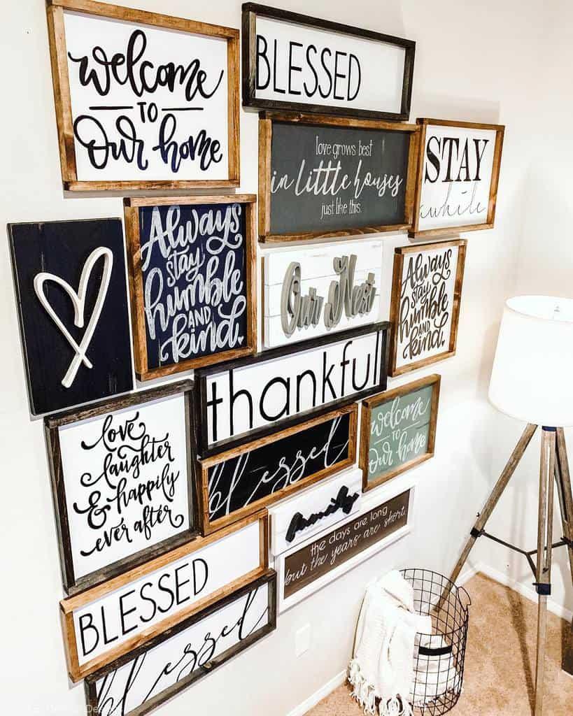 Farmhouse Wood Sign Ideas -merefineddesigns