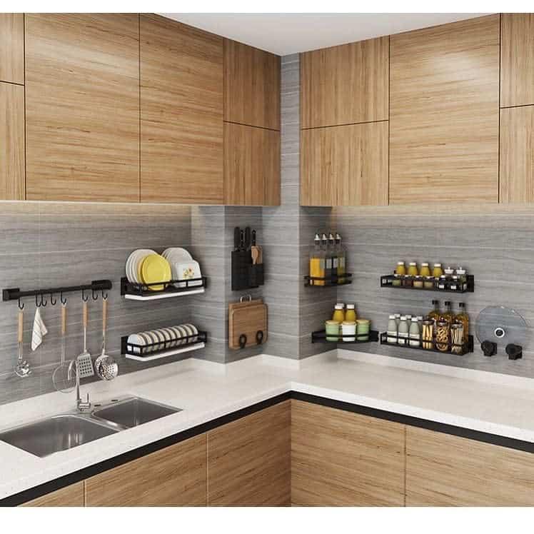 Floating Kitchen Shelf Ideas -almaraseem_kitchens