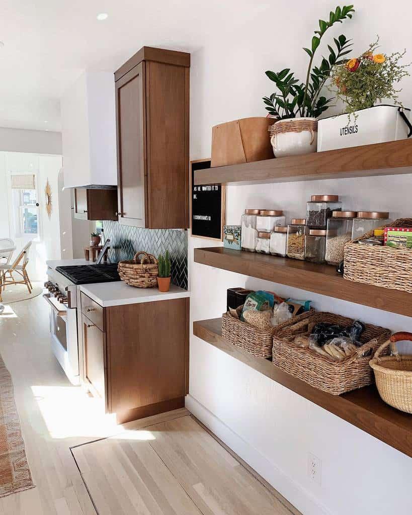 Floating Kitchen Shelf Ideas -arrowsandbow