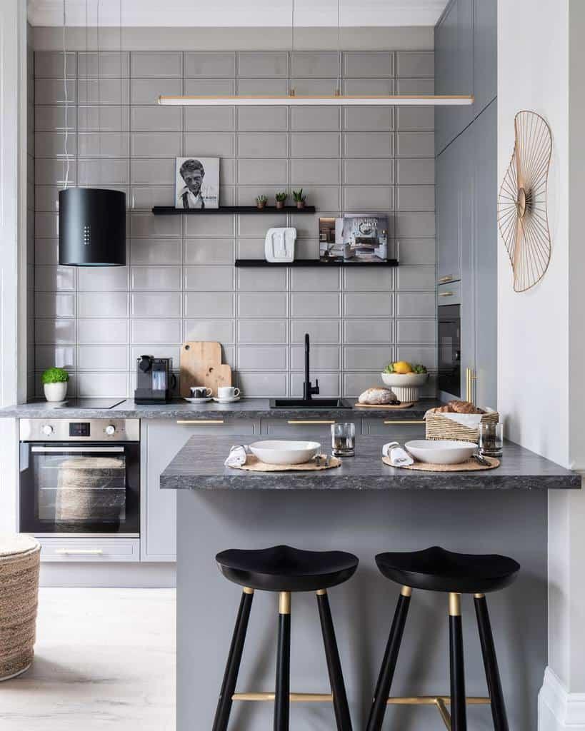 Floating Kitchen Shelf Ideas -olgaashby